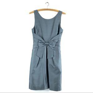 KATE SPADE Jillian Bow Dress Satin Sleeveless